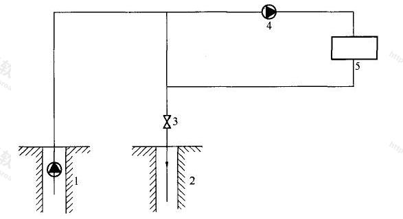 图4.1.2 地热直供系统工艺流程示意