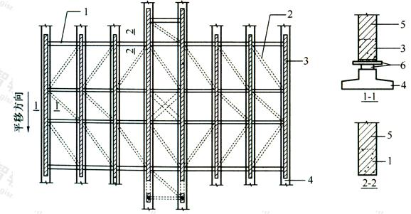图8.2.4 托换梁系构件组成示意