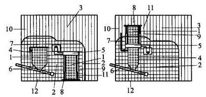图D.0.5 建筑物内的无抽气排风设施的圆筒翻斗装置