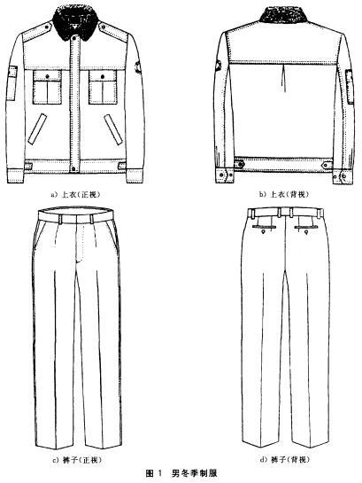男冬季制服