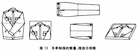 冬季制服的整叠、摆放示例图