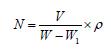 发泡倍数计算公式