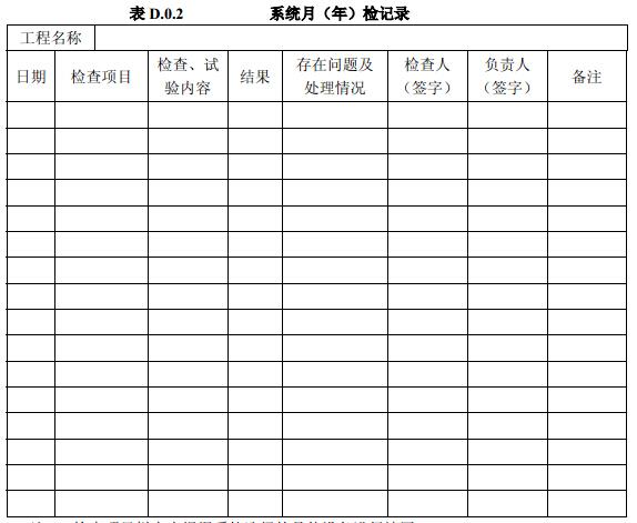 系统月(年)检记录