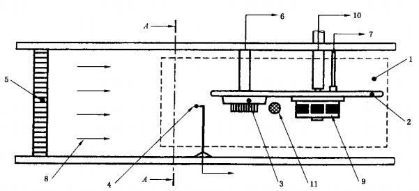测量区、试验仪器及探测器的布置图