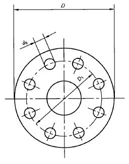 法兰式连接的接合器的法兰尺寸