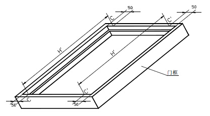 门框内裁口高度测量位置示意图