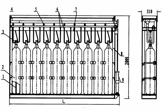 图12 A型(单列气瓶及开启装置)组装