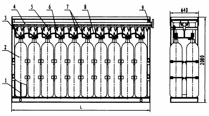 图15 D型(双列气瓶)组装