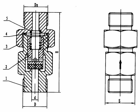 图17 B型止回阀