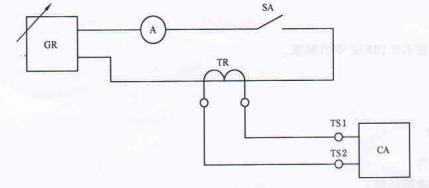 图1 报警信号过输入适应性试验电路示意图