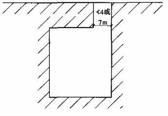 图4.1.2-2 一条基地道路与城市道路相连接图