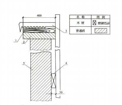 图5.1.10-2 窗台及塔壁板结构示意图(单位:mm)