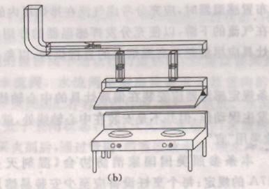 图3 排烟管道保护长度示意图(b)