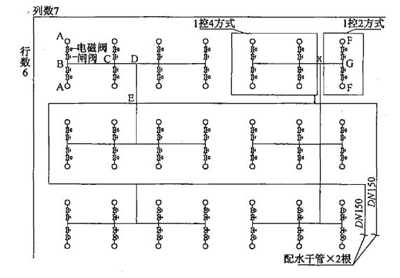 图21 某单层会展中心的大空间智能型主动喷水灭火系统图