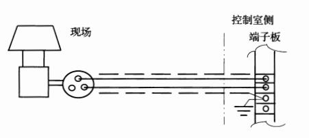 图2 电缆屏蔽单端接地示意