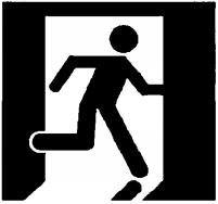 图B.2 安全出口指示标志