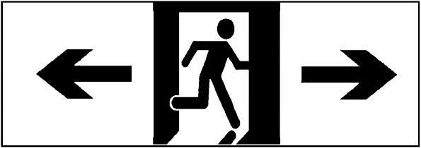图B.4 双向指示标志