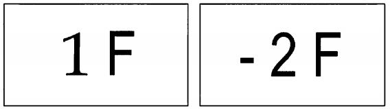 图B.6 楼层显示标志