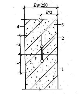 图4.1.25-1 施工缝防水构造(一)