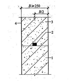图4.1.25-3 施工缝防水构造(三)