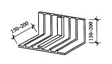 图5.1.12-2 外贴式止水带在转角处的直角配件