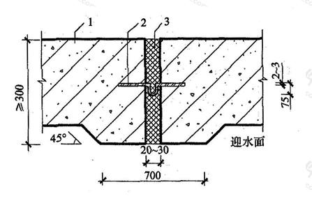 图5.1.7 中埋式金属止水带