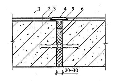 图5.1.6-2 中埋式止水带与嵌缝材料复合使用