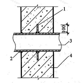 图5.3.3-1 固定式穿墙管防水构造(一)