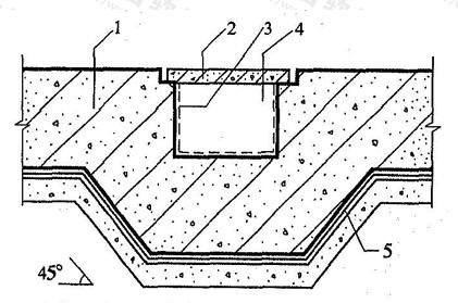 图5.8.2 底板下坑、池的防水构造