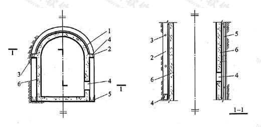 图6.2.13 离壁式衬砌排水构造
