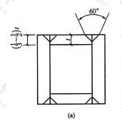 图8.4.2-1a 箱形组合柱的角部组装焊缝