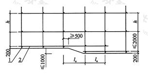 图6.3.3 纵、横向扫地杆构造