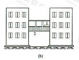 图4 无围护结构的架空走廊(b)