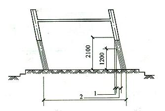 图8 斜围护结构