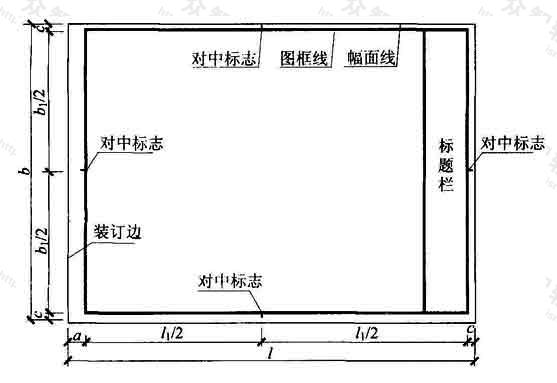 表3.2.1-1 A0~A3横式幅面(一)