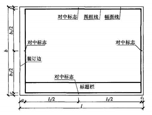 表3.2.1-2 A0~A3横式幅面(二)