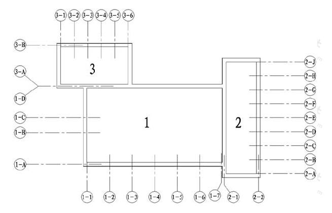 图8.0.5 定位轴线的分区编号