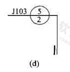 图7.2.2d 用于索引剖面详图的索引符号