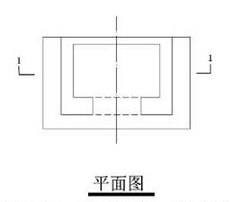 图10.4.1-3 一半画视图,一半画剖面图(平面图)