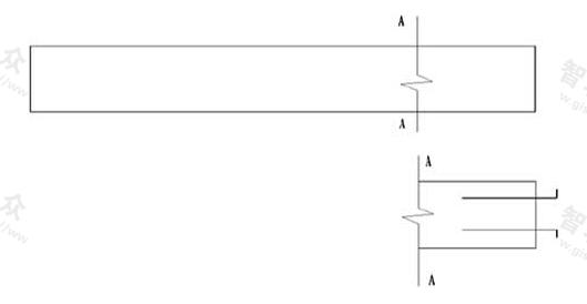 图10.4.5 构件局部不同的简化画法