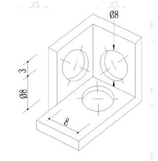 图10.5.5 轴测图圆直径标注方法