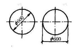 图11.4.4 圆直径的标注方法