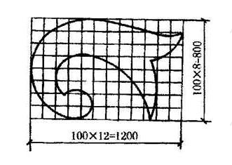 图11.6.5 网格法标注曲线尺寸