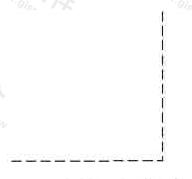 图1 虚线与虚线交接