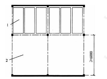 图3.1.5 车位前的出入口场地