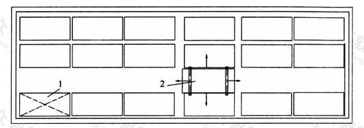 图3.4.2-3  多层多排布置