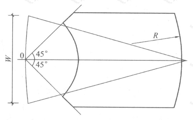 图4 观众厅弧线座位排列(已不使用)