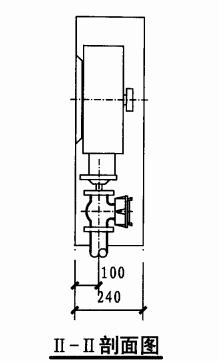 甲型单栓室内消火栓箱(II-II剖面图)