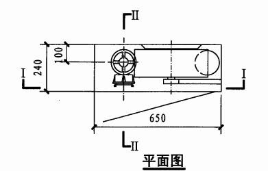 甲型单栓室内消火栓箱(平面图)