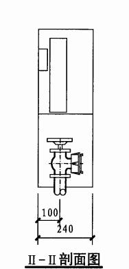 乙型单栓室内消火栓箱(II-II剖面图)
